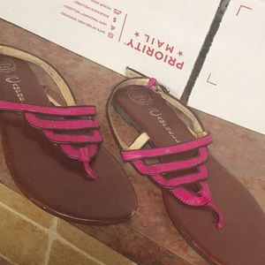 Jeffrey Campbell Tier Flat Sandal Sz 11 Pink